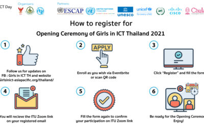 Opening Ceremony of Girls in ICT Day 2021 Thailand: Registration Guide
